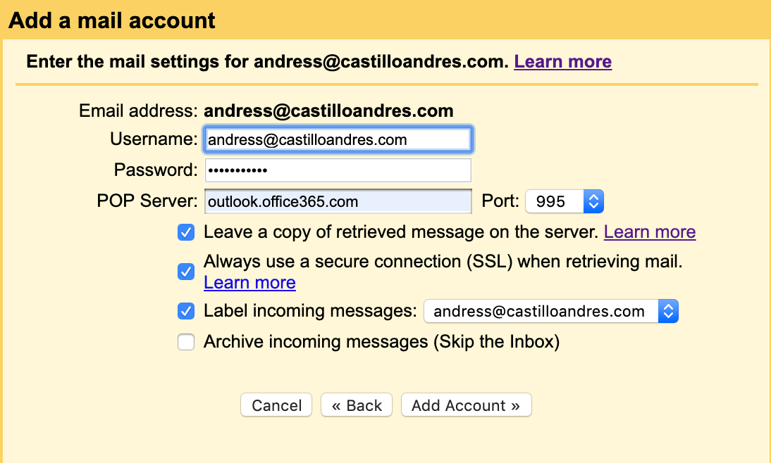 How to set up Godaddy mail in Gmail?